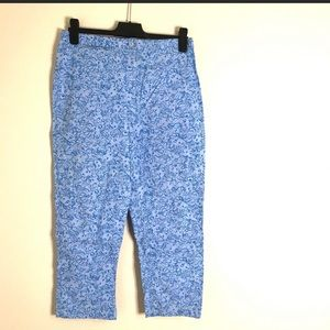Lilly Pulitzer High Waisted Lion Print Capris